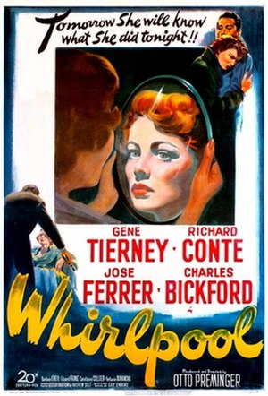 Whirlpool (1949 film) - Theatrical release poster