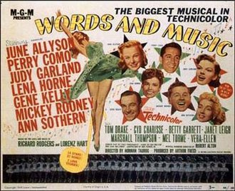 Words and Music (1948 film) - lobby card