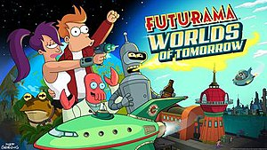 Futurama: Worlds of Tomorrow - Launch screen for Futurama: Worlds of Tomorrow