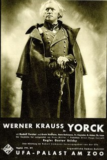 <i>Yorck</i> 1931 film by Konrad Petzold, Gustav Ucicky