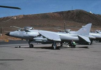 809 Naval Air Squadron - Sea Harrier of 809 NAS at Ascension Island in 1982