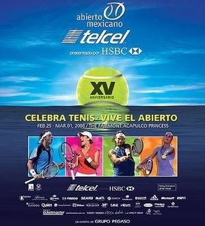2008 Abierto Mexicano Telcel - Image: Abierto Mexicano 2008 Poster