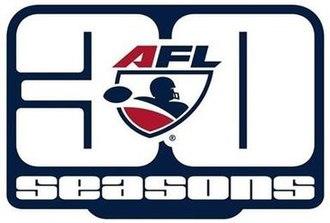 2017 Arena Football League season - Image: Arena Football League 30 seasons logo