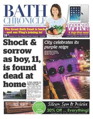 Bath Chronicle - Image: Bath Chronicle 2014 redesign, cover
