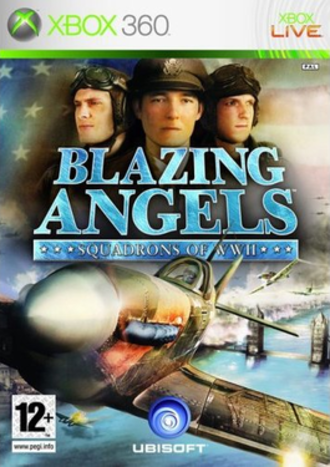 Blazing Angels: Squadrons of WWII - The Xbox 360 version, featuring a Spitfire mk. II flying during one of the battles of London