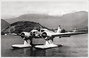 Caproni - Caproni Ca.316 seaplane at its moorings.