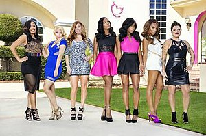 "Bad Girls Club (season 14) - The original seven ""Bad"" Girls of season 14 (left to right): Jasmine, Christina, Lauren, Shannon, Shannade, Jelaminah and Kathryn"