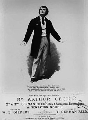A Sensation Novel - Arthur Cecil as Herbert de Browne