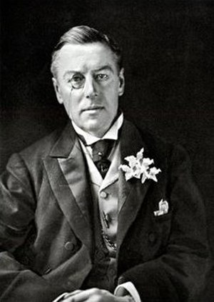 St Albans by-election, 1904 - Joseph Chamberlain, whose tariff reform proposals were backed by the Conservative candidate Vicary Gibbs