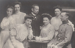 Ludwig III of Bavaria - Princess Adelgunde (1870–1958), Princess Maria (1872–1954), Prince Karl (1874–1927), Prince Franz (1875–1957), Princess Hildegarde (1881–1948), Princess Wiltrud (1884–1975) and Princess Helmtrud (1885–1977).