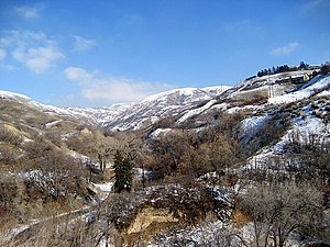 City Creek (Utah) - City Creek Canyon in January 2007