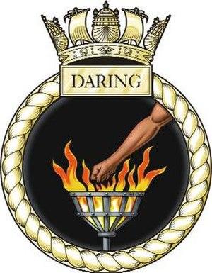 HMS Daring (H16) - Image: Daring Crest