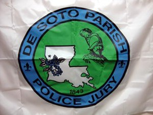 DeSoto Parish, Louisiana - Image: De Soto Parish la flag