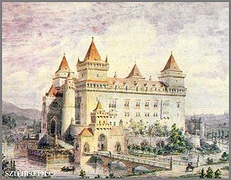 Louis I of Hungary - Reconstruction of the Castle of Diósgyőr, which was one of his favourite hunting castles