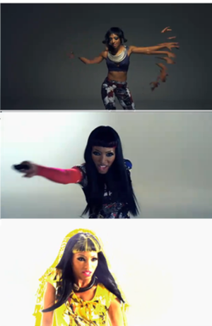 Dirty Talk (Wynter Gordon song) - Wynter Gordon and her three different appearances in the music video.