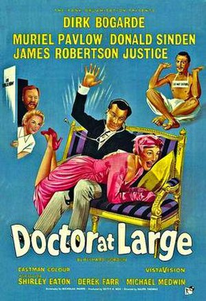 Doctor at Large (film) - Original British cinema poster
