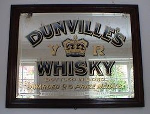 Dunville & Co - Image: Dunville's Whisky Pub Mirror 01