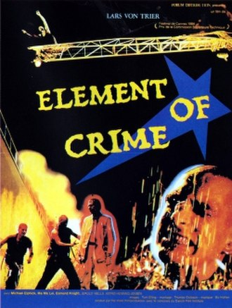 The Element of Crime - theatrical release poster