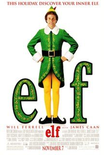 <i>Elf</i> (film) 2003 comedy film starring Will Ferrell directed by Jon Favreau