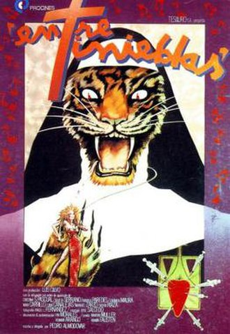 Dark Habits - Original poster by Iván Zulueta