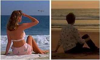 The Law of Non-Contradiction - Many reviewers saw in Gloria's pose in the episode (pictured right) a reference to the iconic picture from Barton Fink (left).