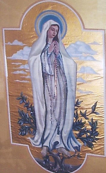 Another view of Our Lady of Fatima by Valeška,...
