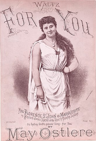 Faust up to Date - Sheet music for a piano arrangement of one of Marguerite's songs