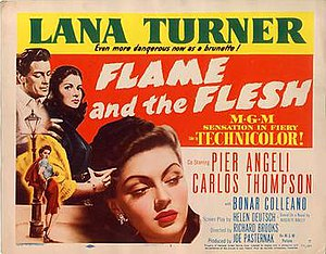Flame and the Flesh - Theatrical release poster