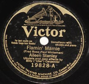 Flamin' Mamie - 1925 Victor release by Aileen Stanler, 19828-A.