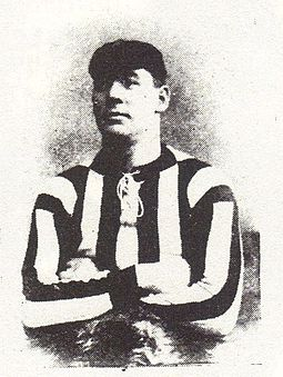 Fred Griffiths wearing the club's original striped shirt FredGriffiths.jpg