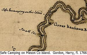 Eightmile Island - Gordon's 1766 Colonial Patrol Map.
