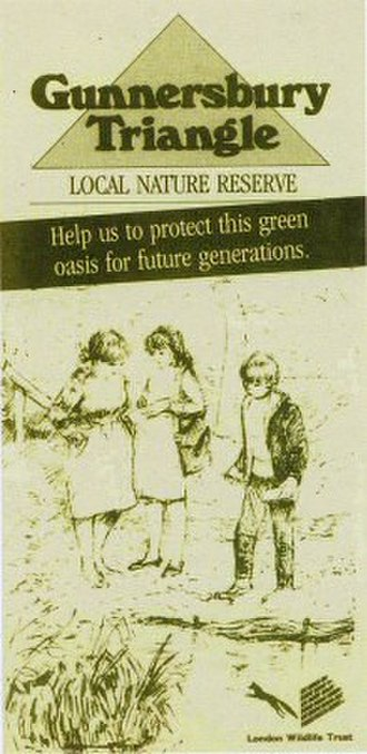 Gunnersbury Triangle - Gunnersbury Triangle local nature reserve campaign, 1988, showing children by the pond