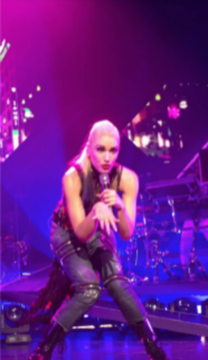 "Harajuku Girls (song) - Stefani performing ""Harajuku Girls"" during the This Is What the Truth Feels Like Tour in 2016."