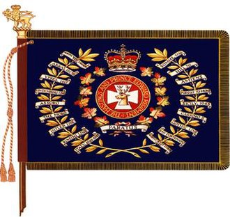 The Hastings and Prince Edward Regiment - The regimental colour of the Hastings and Prince Edward Regiment.
