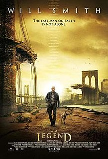 <i>I Am Legend</i> (film) 2007 post-apocalyptic film directed by Francis Lawrence