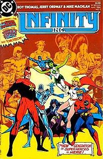 <i>Infinity, Inc.</i> Fictional team of superheroes