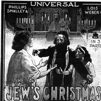 Lois Weber - Poster for The Jew's Christmas (1913)