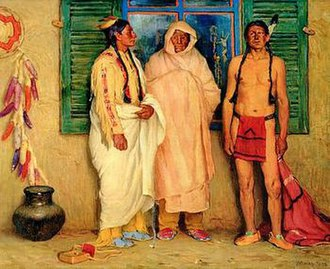 Taos Society of Artists - Joseph Henry Sharp's Three Taos Indians