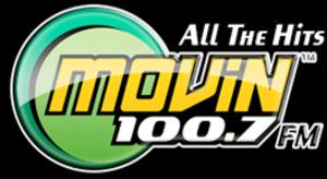 """KYMV - KYMV's logo under previous """"Movin' branding."""