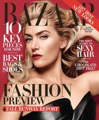 Harper's Bazaar - Cover of the June/July 2014 issue featuring Kate Winslet