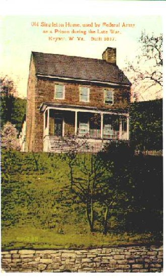 """Angus William McDonald - McDonald and his family resided at """"Wind Lea"""" in present-day Keyser, West Virginia from around 1850 until at least 1856"""
