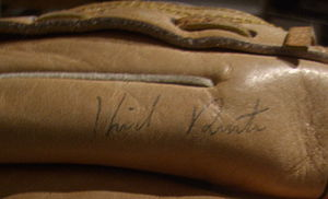 Kirk Rueter - Kirk Rueter autographed glove signed in 1998.