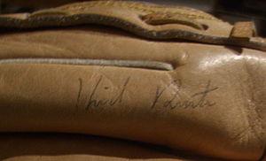 Kirk Rueter - Kirk Rueter autographed glove signed in 1998.