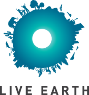 "Live Earth - The Live Earth logo representing the ""S.O.S."" message."