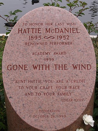 Hattie McDaniel - Cenotaph at Hollywood Forever Cemetery