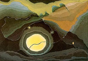 American modernism - Arthur Dove, Me and the Moon 1937