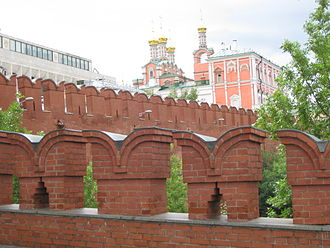 Merlon - Merlons and crenels, Moscow Kremlin