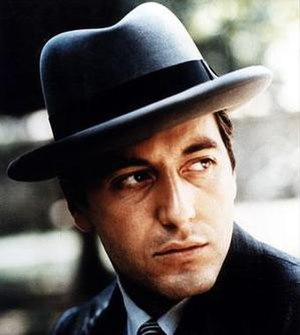 Michael Corleone - Michael Corleone, as portrayed by Al Pacino in The Godfather.