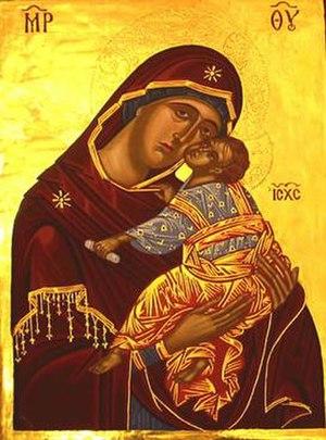 Peter Murphy (artist) - Byzantine Virgin of Loving Tenderness, date unknown.