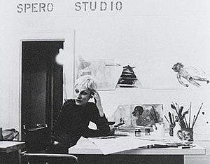 Nancy Spero - Nancy Spero, in her New York Studio, 1973